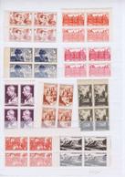 J3019  9 Blocs De 4 De Tp  Neufs Differents Des Annees 40-50 - Unused Stamps