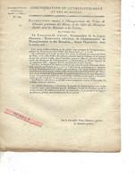 Instruction 1807 Vente De Chevaux Des HARAS Et Effets Des Militaires Décédés Dans Hôpitaux Et Prisons - Decrees & Laws