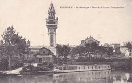 """Marne : EPERNAY : La Nautique - Tour De L'union Champenoise : Bateau Croisière """" TORTUE """" : - Epernay"""