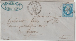 Bouches Du Rhône, LAC N°22 GC + Cad T22 Auriol 1866 - 1849-1876: Periodo Classico