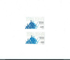 2549 B Bleu Clair Décalé  Vers Le Bas - 1 Normal Livré Cote 25 € Yvert 2021 - Curiosidades: 2000-09  Nuevos