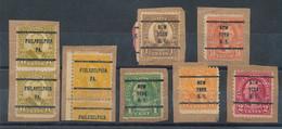 USA Lot De 8 Timbres Préoblitérés Sur Fragments - Precancels