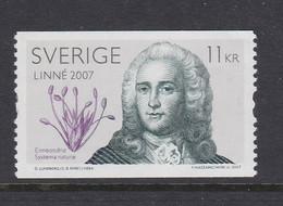 CARL VON LINNE PORTRAIT SCIENCE  BOTANY BOTANY Botanik Botanique PLANTS SWEDEN SUEDE SCHWEDEN 2007 MI 2572  MNH - Sonstige