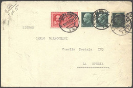 1942 POSTA PNEUMATICA C.35 (15) + IMPERIALE Tre C.25 (248) Su Frontespizio Roma Ferrovia (A) C.2 (16.11) - Marcofilía