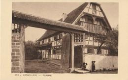 CARTE POSTALE ORIGINALE ANCIENNE : KIRWILLER UNE FERME ANIMEE HAUT RHIN (68) - Autres Communes
