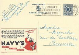 Belgique Carte Postale Publibel 1041 Oblitéré Entier Postal, Bière, Beer, Bier. Bière Navy's. Ganzsachen - Biere