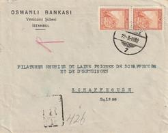 Turquie Lettre Recommandée Pour La Suisse 1932 - Briefe U. Dokumente