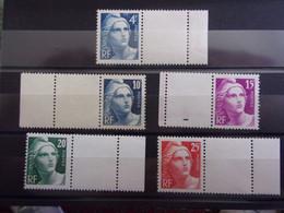 FRANCE YVERT 725/29 NEUF** - 1945-54 Marianne Of Gandon