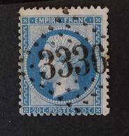 22 Obl GC 3336 Savenay (42 Loire Inférieure ) Ind 4 ; Frappe Très Nette Et TB Centrée - 1849-1876: Classic Period