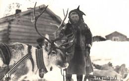 Thematiques Norvege Norge Hammerfest Enfant Renne  Timbre Cachet 07 08 1936 - Norway