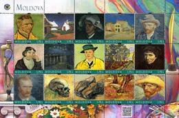 Moldova 2019, Painting, Vincent Van Gogh, Sheetlet Of 15v - Moldavia