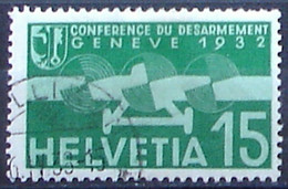 """Schweiz Suisse 1932: """"Abrüstung / Désarmement"""" Zu Flug 16 Mi 256 Yv PA16 Mit Stempel  BELLINZONA 6.IV.38 (Zu CHF 4.50) - Usados"""