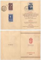 1950 CENTENARIO SELLO ESPAÑOL. RARO DOCUMENTO CENTILUX. VER - 1931-50 Cartas