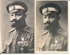 Russie Militaire Russe 2 Cartes General Koutepov - Rusia