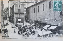 CPA - ANNONAY - PLACE DE LA LIBERTE ET RUE BOISSY D'ANGLAS - Annonay