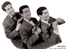 Grande Photo De Promotion Originale - Trio Marnhy - Harmonica Hohner - Photo G. Soulet - A. Tavel & F. Marouani Paris 8 - Célébrités