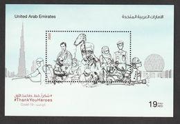 United Arab Emirates Thank You Hereos - Covid-19 S/S MNH - Emiratos Árabes Unidos