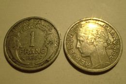 France, Monnaie 1 FRANC MORLON, 1957 République Française, Alu - H. 1 Franc