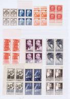 J3024  10 Blocs De 4 De Tp  Neufs Differents Des Annees 40-50 - Unused Stamps