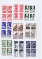 J3022  9 Blocs De 4 De Tp  Neufs Differents Des Annees 40-50 - Unused Stamps