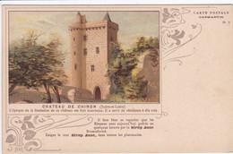 37 CHINON  Carte Publicitaire ,publicité Contre L'alcoolisme ,alcool , Cp Année 1900 - Chinon