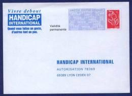 HANDICAP INTERNATIONAL. PAP Réponse Neuf. Autorisation 78369. Validité Permanente. Dos 06P041. - Listos Para Enviar: Respuesta/Lamouche