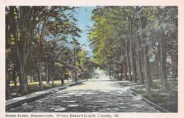 SUMMERSIDE - STREET SCENEY - PRINCE EDWARD ISLAND ~ AN OLD POSTCARD #28024 - Zonder Classificatie