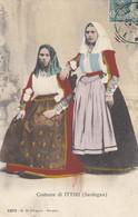 ITTIRI-SASSARI-COSTUME TIPICO- CARTOLINA  VIAGGIATA IL 21-2-1908 - Sassari