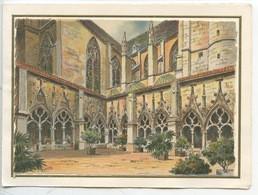 Toul Cloitre De La Collégiale Saint Gengoult - Barday Illustratur - Gravure Aquarelle Cp Double Vierge - Toul