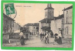 88 XERTIGNY - Route De BAINS - Très Animée - Cyclistes - Xertigny