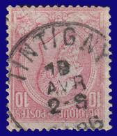 "COB N° 46 - Belle Oblitération - ""TINTIGNY"" - 1884-1891 Leopold II"