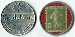N93-0642 - Timbre-monnaie Spidoléine 5 Centimes Avec Inscriptions Visibles Au Verso - Kapselgeld - Encased Postage - Monetari / Di Necessità
