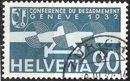 """Schweiz Suisse 1932: """"Abrüstung / Désarmement"""" Zu Flug 18 Mi 258 Yv PA18 Mit Stempel ZÜRICH 9.III.32 (Zu CHF 70.00) - Usados"""