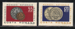 Roumanie 1967 Yvert 2299/2300 Neufs** MNH (AD35/36) - Unused Stamps