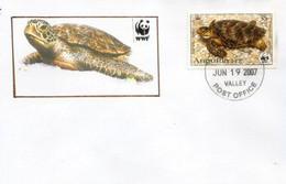 WWF ANGUILLA . La Tortue Luth (Dermochelys Coriacea). Espèce Menacée D'extinction., Belle Lettre De Valley Post-office - Covers & Documents