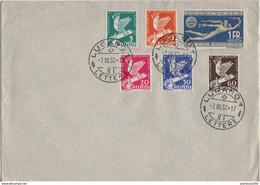 SUISSE SERIE YT N°254 A 259 CON FERENCE DE LA PAIX 1932 OBLITEREE SUR LETTRE NON CIRCULEE - Oblitérés