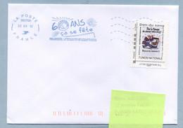 2012 Flamme Bleue Néopost  39376A  60 Ans PHILAPOSTEL Avec Timbre Collector - Mechanical Postmarks (Advertisement)