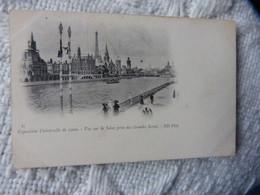 PARIS - EXPOSITION UNIVERSELLE DE PARIS 1900 - VUE SUR LA SEINE PRISE DES GRANDES SERRES - Tentoonstellingen