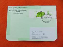 België Zegel Kilopost 5 Kg Verstuurd Op Kaart (afstempeling Oostduinkerke ) - Altri