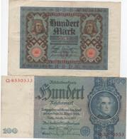 Lot De 2 Billets De Reichsbanknote : 100 Mark (1920 - 1924) - 100 Mark