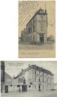 Belgique - GEMBLOUX - 2 CP - Hôtel Zénon, Garage, Chocolat - Gembloux
