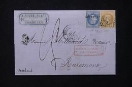FRANCE - Lettre De Bordeaux Pour Les Pays Bas En 1868, Affranchissement Napoléon 10+20ct Et Taxé - L 80865 - 1849-1876: Periodo Clásico