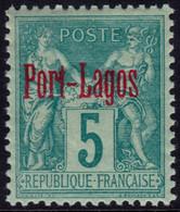 ✔️ Port Lagos Grèce 1893 - Sage Avec Surcharge RT Connecté - Yv. 1 * MH - €32 - Unused Stamps