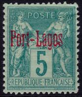 ✔️ Port Lagos Grèce 1893 - Sage Avec Surcharge - Yv. 1 * MH - €32 - Unused Stamps