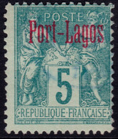 ✔️ Port Lagos Grèce 1893 - Sage Avec Surcharge - Yv. 1 (o) - €32 - Used Stamps