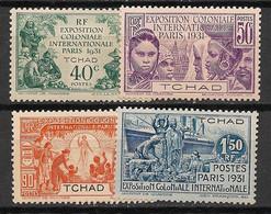 Tchad - 1931 - N°Yv. 56 à 59 - Série Complète - Neuf Luxe ** / MNH / Postfrisch - Nuovi