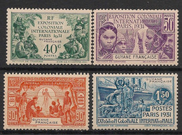 Guyane - 1931 - N°Yv. 133 à 136 - Exposition Coloniale - Série Complète - Neuf * / MH VF - Ungebraucht