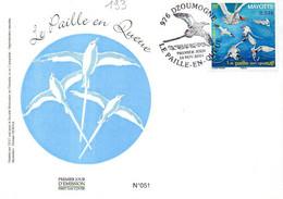 MAYOTTE 0193 Fdc Oiseau Paille-en-queue - Papageien