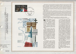CEF N° 557 - CHARLES DE GAULLE - COLOMBEY LES DEUX EGLISES  - 8 NOVEMBRE 1980 - PARIS - Documents Of Postal Services