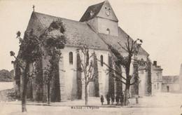 CARTE POSTALE ORIGINALE ANCIENNE : MAISSE EGLISE SAINT MEDARD  ANIMEE ESSONNE (91) - Other Municipalities
